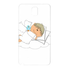 Sweet Dreams Angel Baby Cartoon Samsung Galaxy Note 3 N9005 Hardshell Back Case by Nexatart