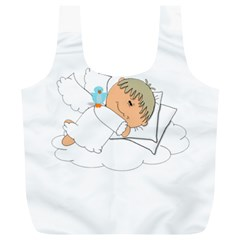 Sweet Dreams Angel Baby Cartoon Full Print Recycle Bags (l)  by Nexatart