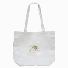 Sweet Dreams Angel Baby Cartoon Tote Bag (white)