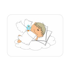 Sweet Dreams Angel Baby Cartoon Double Sided Flano Blanket (mini)  by Nexatart