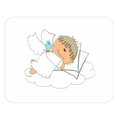 Sweet Dreams Angel Baby Cartoon Double Sided Flano Blanket (large)