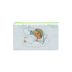 Sweet Dreams Angel Baby Cartoon Cosmetic Bag (xs) by Nexatart
