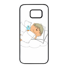 Sweet Dreams Angel Baby Cartoon Samsung Galaxy S7 Edge Black Seamless Case by Nexatart