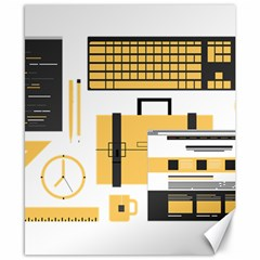 Web Design Mockup Web Developer Canvas 8  X 10  by Nexatart