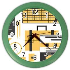 Web Design Mockup Web Developer Color Wall Clocks by Nexatart