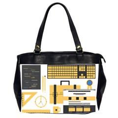 Web Design Mockup Web Developer Office Handbags (2 Sides)  by Nexatart