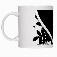 Silhouette Heart Black Design White Mugs
