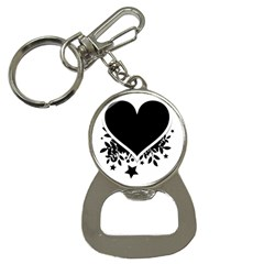 Silhouette Heart Black Design Button Necklaces