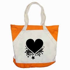 Silhouette Heart Black Design Accent Tote Bag by Nexatart