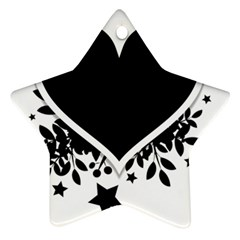 Silhouette Heart Black Design Star Ornament (two Sides) by Nexatart
