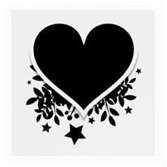 Silhouette Heart Black Design Medium Glasses Cloth