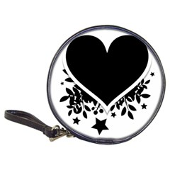 Silhouette Heart Black Design Classic 20 Cd Wallets