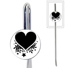Silhouette Heart Black Design Book Mark by Nexatart