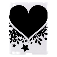 Silhouette Heart Black Design Apple Ipad 3/4 Hardshell Case (compatible With Smart Cover) by Nexatart