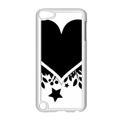 Silhouette Heart Black Design Apple Ipod Touch 5 Case (white) by Nexatart
