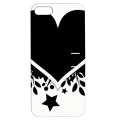 Silhouette Heart Black Design Apple Iphone 5 Hardshell Case With Stand by Nexatart