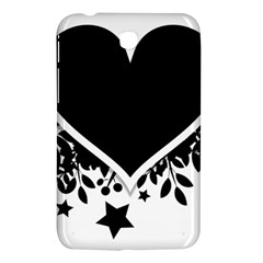 Silhouette Heart Black Design Samsung Galaxy Tab 3 (7 ) P3200 Hardshell Case