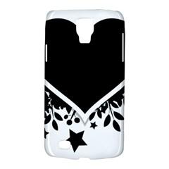 Silhouette Heart Black Design Galaxy S4 Active by Nexatart