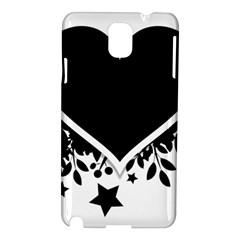 Silhouette Heart Black Design Samsung Galaxy Note 3 N9005 Hardshell Case by Nexatart