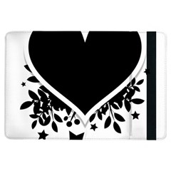 Silhouette Heart Black Design Ipad Air Flip by Nexatart