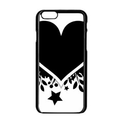 Silhouette Heart Black Design Apple Iphone 6/6s Black Enamel Case by Nexatart