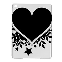 Silhouette Heart Black Design Ipad Air 2 Hardshell Cases by Nexatart