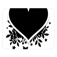 Silhouette Heart Black Design Double Sided Flano Blanket (large)  by Nexatart