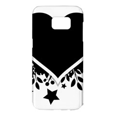 Silhouette Heart Black Design Samsung Galaxy S7 Edge Hardshell Case