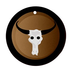 Logo The Cow Animals Ornament (round)