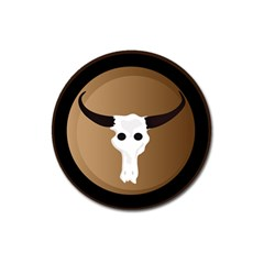 Logo The Cow Animals Magnet 3  (round) by Nexatart