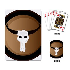 Logo The Cow Animals Playing Card by Nexatart