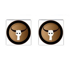 Logo The Cow Animals Cufflinks (square) by Nexatart