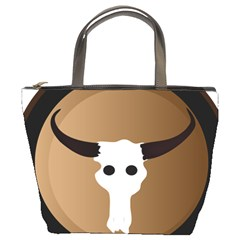 Logo The Cow Animals Bucket Bags
