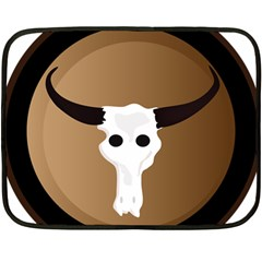 Logo The Cow Animals Fleece Blanket (mini) by Nexatart
