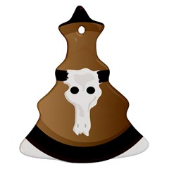 Logo The Cow Animals Christmas Tree Ornament (two Sides)