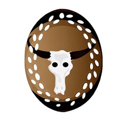 Logo The Cow Animals Ornament (oval Filigree) by Nexatart