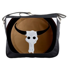 Logo The Cow Animals Messenger Bags