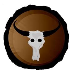 Logo The Cow Animals Large 18  Premium Round Cushions by Nexatart