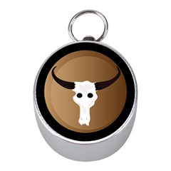 Logo The Cow Animals Mini Silver Compasses by Nexatart
