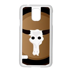 Logo The Cow Animals Samsung Galaxy S5 Case (white) by Nexatart