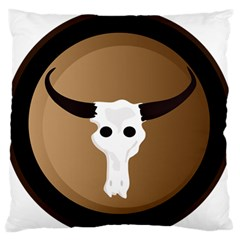 Logo The Cow Animals Large Flano Cushion Case (two Sides)