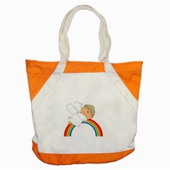 Angel Rainbow Cute Cartoon Angelic Accent Tote Bag