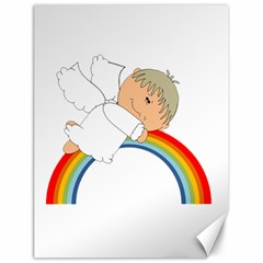 Angel Rainbow Cute Cartoon Angelic Canvas 18  X 24   by Nexatart