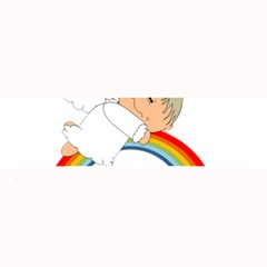 Angel Rainbow Cute Cartoon Angelic Large Bar Mats by Nexatart