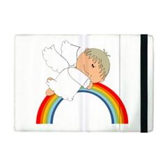 Angel Rainbow Cute Cartoon Angelic Apple Ipad Mini Flip Case by Nexatart