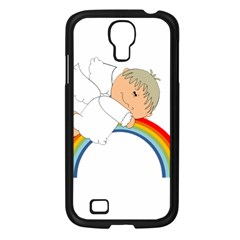 Angel Rainbow Cute Cartoon Angelic Samsung Galaxy S4 I9500/ I9505 Case (black) by Nexatart