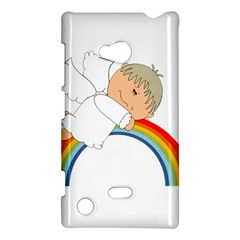 Angel Rainbow Cute Cartoon Angelic Nokia Lumia 720 by Nexatart