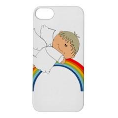 Angel Rainbow Cute Cartoon Angelic Apple Iphone 5s/ Se Hardshell Case by Nexatart