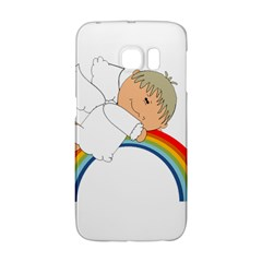 Angel Rainbow Cute Cartoon Angelic Galaxy S6 Edge