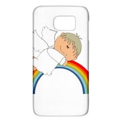 Angel Rainbow Cute Cartoon Angelic Galaxy S6